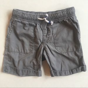 Gray shorts elastic waist easy on off 4T